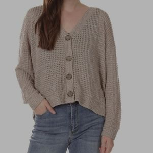 Gorgeous Double 0 chenille cardigan champagne